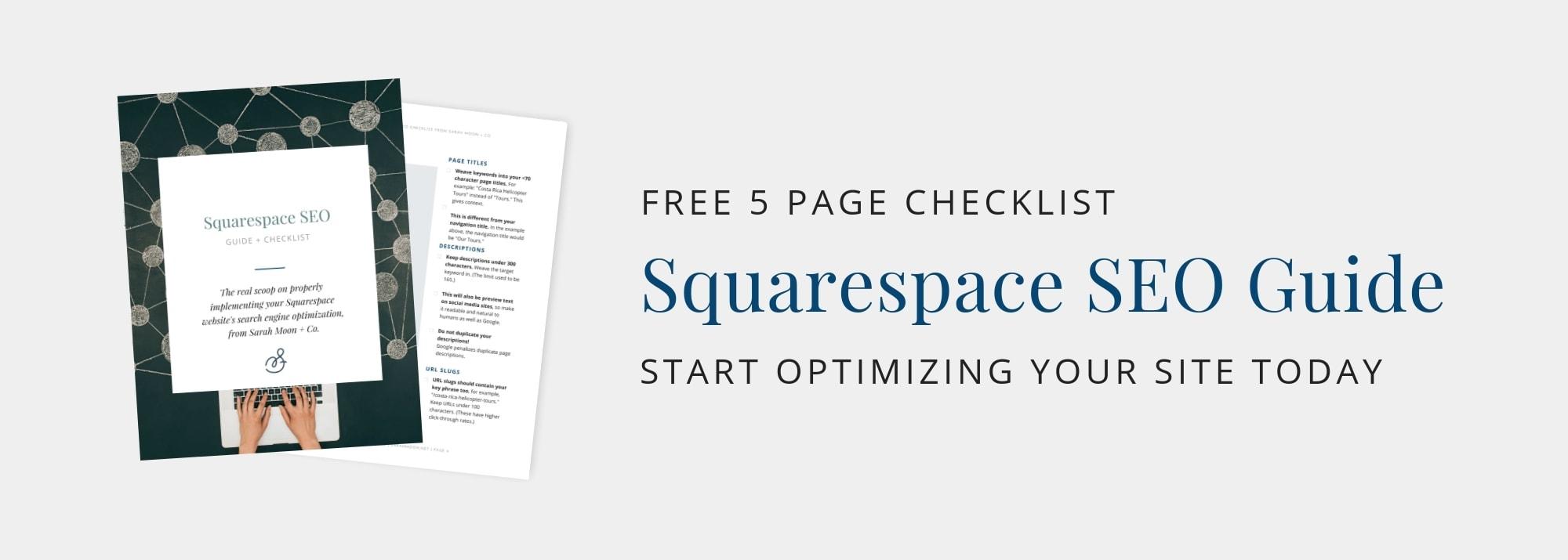 Get Your Squarespace SEO Checklist!