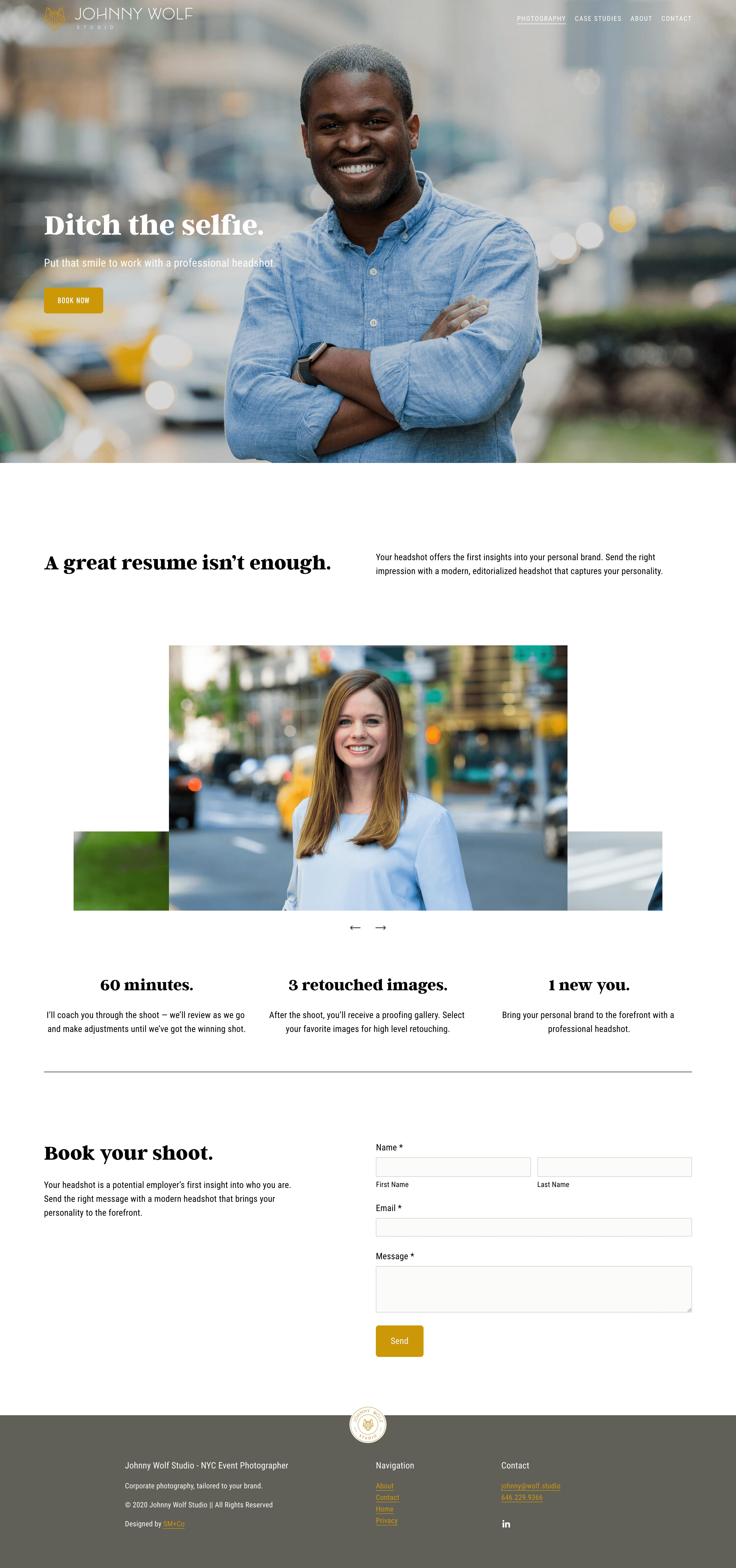 Personal Headshot Portfolio Page - On Squarespace 7.1
